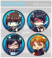 Psychopass Button Set by jinyjin