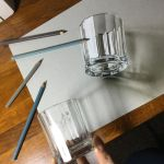 3D Drawing of a glass by marcellobarenghi