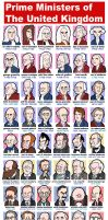 Prime Ministers of England by jjmccullough
