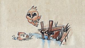 owls have fun by Mathieu-Larno