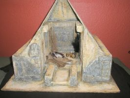 Egyptian Tomb Dollhouse by grimdeva
