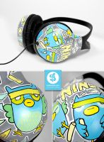 Ninja Owl Headphones by Bobsmade