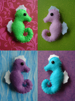 Seahorse Plushies by Babekins