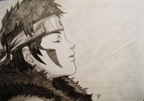 Sleeping Kiba c: by sandralinnea