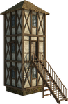Medieval Tower 1A | PNG by fumar-porros
