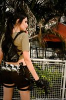 Lara Croft - Costume Back View by Yukilefay