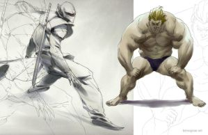 Stormshadow v StretchArmstrong by Kerong