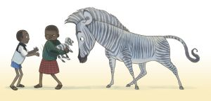 Boys and Zebra by larkinheather