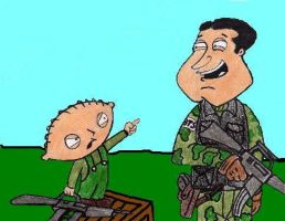 Stewie and Quagmire wargames by Charger426