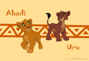 Ahadi and Uru cubs by NewSea-ANother