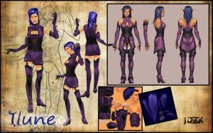 Character Sheet: Ilune by JordanKerbow