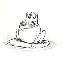 Frog Prince Lineart by bliss-chan