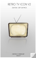 Retro Tv icon V2 by OtherPlanet