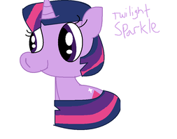 MLP- Twilight Sparkle Sitting by Cookie-Sky