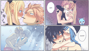 Fairy Tail: shippings by Sabinaa