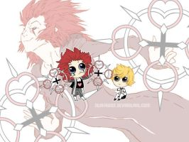Axel and Roxas + Hearts by otherwise