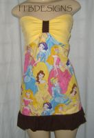 Disney princess mini dress by funkyfunnybone