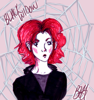 Black Widow- Sketch by WiteHypno