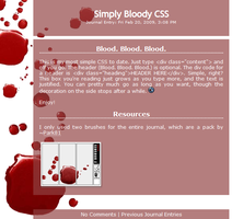 Free Simply Bloody CSS by moonfreak