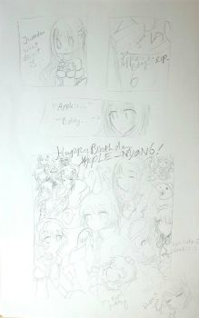 Happy Birthday Apple_nyan6 with cpus by APPLE-NYAN6