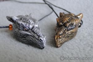 Dragon head pendants by metazoe
