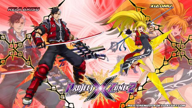 Project X Zone 2 wallpaper - Reiji and Xiaomu v2 by MasterEni2009