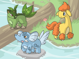Cyare Starters: Evolved by cobaltdragon