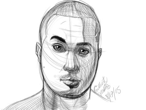 Digital Self portrait/sketch. by gx6