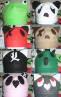 Fleece Hats and Tutorial Link by Dragonomine