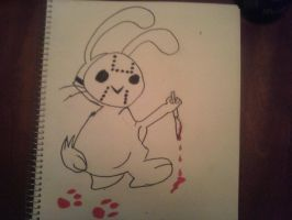 killer bunny drawing by kemsley