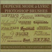 depeche mode lyric brushes 2 by chokingonstatic