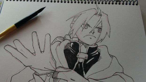 Edward Elric from Fullmetal Alchemist by AirtonCS