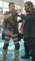 Eat my bullets, Zombie, from Chris Redfield by trivto