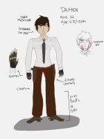 Damien Normal Ref by dragontaxi