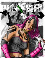 Punk Girl Final by SHADOBOXXER
