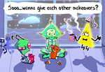 Ominous Triangle Slumber Party (+1 Irken) by Thinston