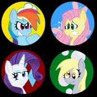 Pony Buttons Set 2 by Pembroke