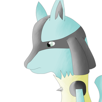 lucario scetch-colored by Zecendia