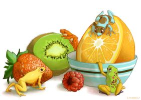 Fruit Frogs by Rowkey