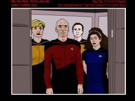 ST:TNG Crew to Battle Bridge by OblivionMedia