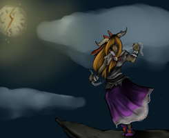 TOUHOU -- Broken  Moon by static-mcawesome