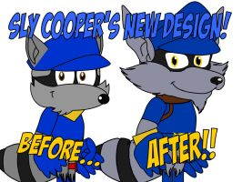 Sly Cooper's New Design by AshleyWolf259