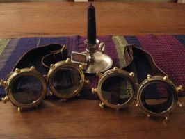 D.A. Steampunk Googles by Ferreticus