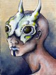 Insect bone mask ACEO by glait