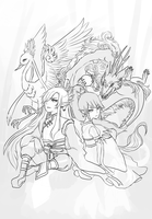current WIP - deities by onisuu