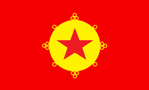 Fictional: Flag of the People's Republic of Tibet by kyuzoaoi
