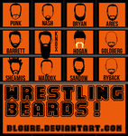Beards of Pro-Wrestling by bloure