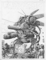 Battletech - Maximum Tech cover - Pencils by SteamPoweredMikeJ