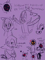 Smiley Doodles by FollowingSpirits