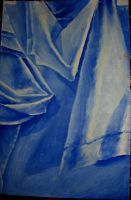 Blue cloth study by Flrmprtrix